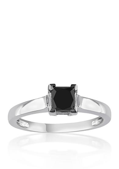 Belk & Co. 1.00 ct. t.w. Black Diamond Solitaire Engagement Ring in 10k White Gold