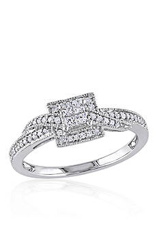 Belk & Co. 1/4 ct. t.w. Diamond Engagement Ring in 10k White Gold
