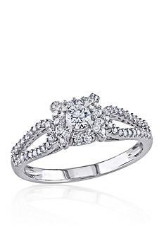 Belk & Co. 1/2 ct. t.w. Diamond Engagement Ring in 14k White Gold