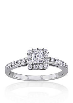 Belk & Co. 1/2 ct. t.w. Diamond Engagement Ring in 10k White Gold