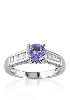 Belk & Co. 14k White Gold Tanzanite and Diamond Ring