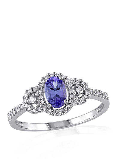 Belk & Co. Tanzanite and Diamond Ring in 10k White Gold