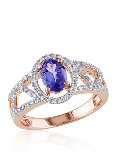 Belk & Co. Tanzanite and Diamond Ring in 10k Rose Gold