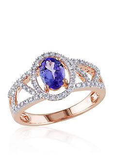 Belk & Co. Tanzanite and Diamond Ring in 10k Rose Gold