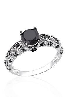 Belk & Co. 1.25 ct. t.w. Black Diamond Engagement Ring in 10k White Gold