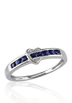 Belk & Co. 10k White Gold Sapphire Ring