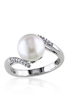Belk & Co. 14k White Gold South Sea Pearl and Diamond Ring