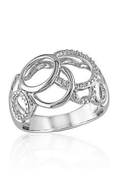 Belk & Co. Diamond Circles Ring in Sterling Silver