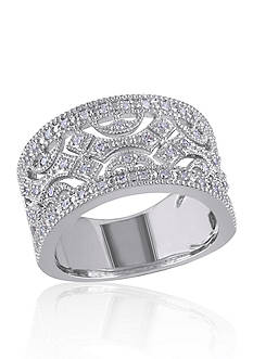 Belk & Co. Diamond Open Design Ring in Sterling Silver