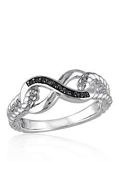 Belk & Co. Black Diamond Infinity Ring in Sterling Silver