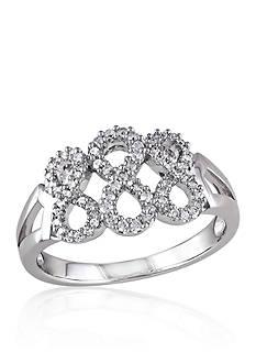 Belk & Co. Diamond Infinity Ring in Sterling Silver