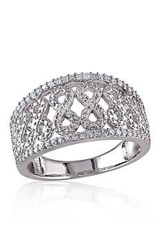 Belk & Co. Diamond Open Infinity Band in Sterling Silver