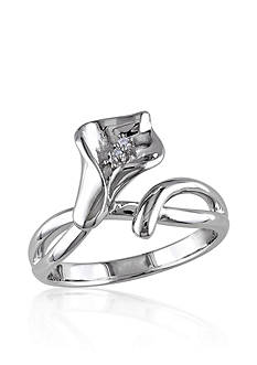 Belk & Co. Diamond Calla Lilly Ring in Sterling Silver