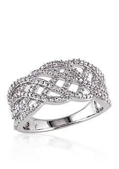 Belk & Co. Diamond Band in Sterling Silver