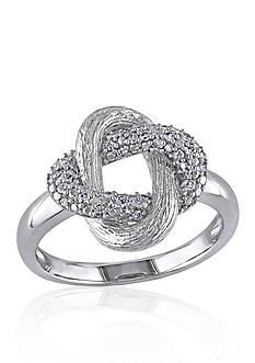 Belk & Co. Diamond Twist Ring in Sterling Silver