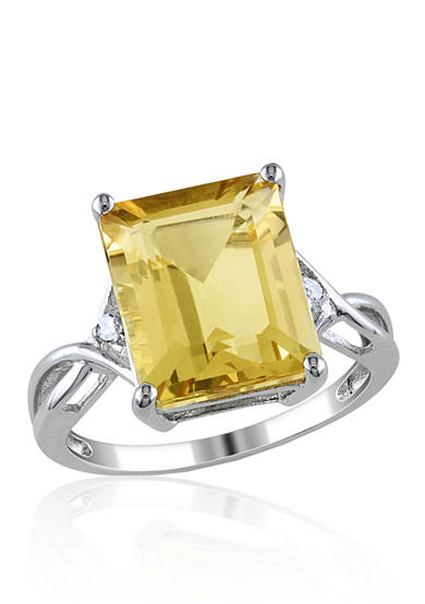 Belk & Co. Sterling Silver Citrine and White Topaz Ring