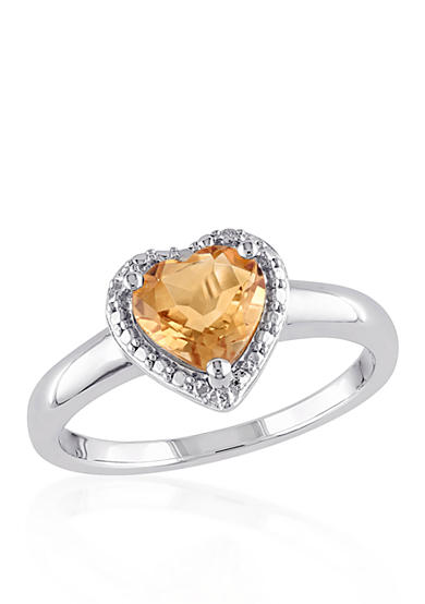 Belk co sterling silver citrine ring belk for Belk fine jewelry rings