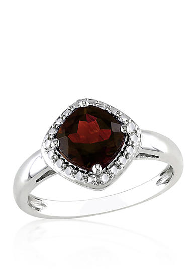Belk co garnet ring in sterling silver belk for Belk fine jewelry rings