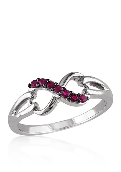 Belk co ruby infinity ring in sterling silver belk for Belk fine jewelry rings