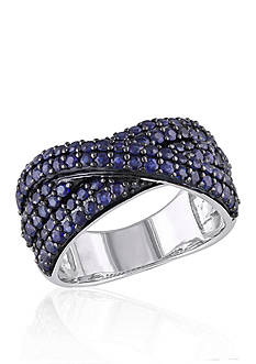 Belk & Co. Sapphire Crossover Band in Sterling Silver