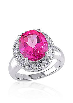 Belk & Co. Sterling Silver Pink and White Topaz Ring