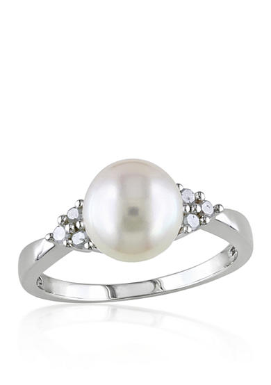 Belk co sterling silver white cultured freshwater pearl for Belk fine jewelry rings