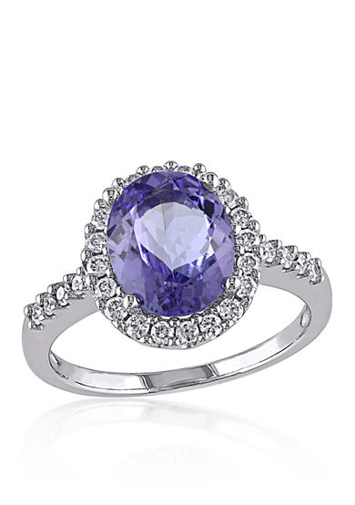 Belk & Co. Blue Tanzanite and Diamond Ring in 14k White Gold