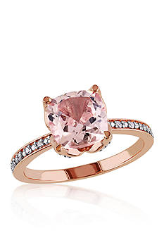Belk & Co. Morganite and Diamond Accent Ring in 10k Rose Gold