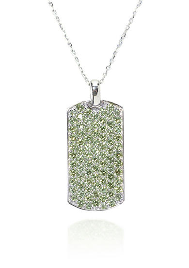 Belk & Co. Peridot Dog Pendant in Sterling Silver
