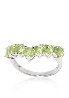 Belk & Co. Peridot Ring in Sterling Silver