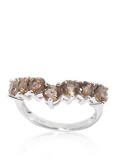 Belk & Co. Smoky Quartz Ring in Sterling Silver