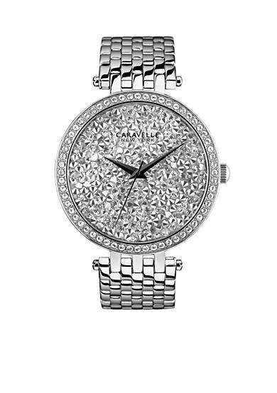 Caravelle New York Women's Stainless Steel and Crystal Watch