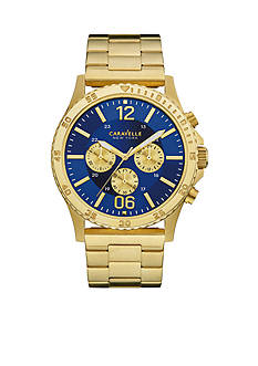 Caravelle New York Men's Gold-Tone Chronograph Sport Watch