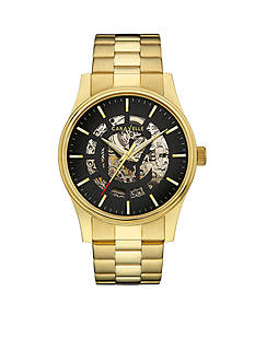 Caravelle New York Men's Gold-Tone Automatic Watch