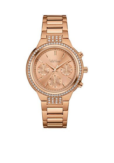 Caravelle New York Women's Rose Gold-Tone Watch