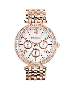 Caravelle New York Women's Rose Gold-Tone Analog Watch