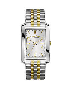Caravelle New York Men's Two-Tone Stainless Steel Watch