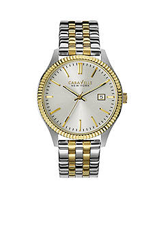 Caravelle New York Men's Two-Tone Watch