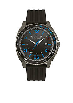 Caravelle New York Men's Black Watch