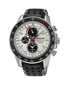 Seiko Men's Sportura Solar Perpetual Chronograph Watch