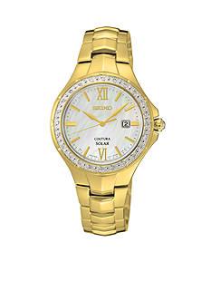 Seiko Ladies Coutura Solar Diamond Bezel Watch