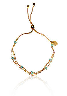 Argento Vivo Apatite Adjustable Bracelet in 18k Yellow Gold Over Sterling Silver