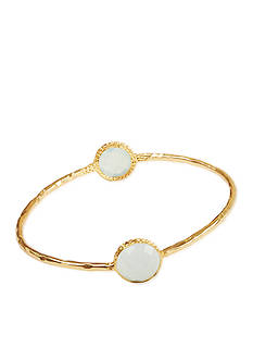 Argento Vivo Aqua Chalcedony set in 18K Yellow Gold over Sterling Silver Bracelet