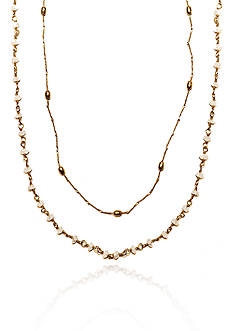Argento Vivo Moonstone Multistrand Necklace in 18k Yellow Gold over Sterling Silver