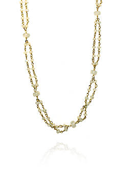 Argento Vivo Moonstone Rondelle Necklace in 18K Yellow Gold