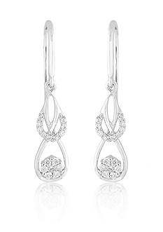 Belk & Co. Tear Drop Diamond Earrings
