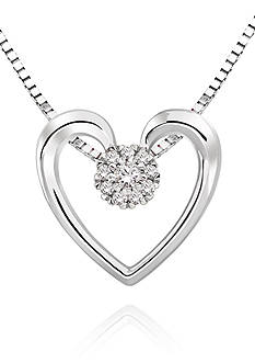 Belk & Co. Diamond Heart Pendant Necklace in Sterling Silver