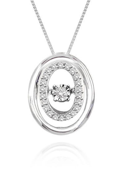 Move My Heart Diamond Pendant set in Sterling Silver