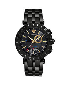 Versace Men's V-Race GMT Black Watch