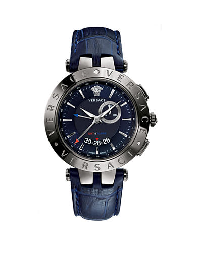Versace Men's V-Race GMT Blue Watch